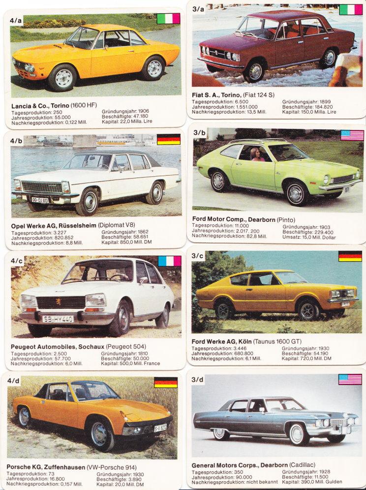 die gr ssten automarken 1972 autokartenspiele. Black Bedroom Furniture Sets. Home Design Ideas